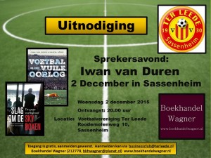 Uitnodiging Sprekersavond Iwan van Duren 2 december 2015 (1)