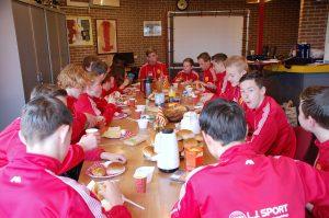 De kampioensochtend werd gestart met een ontbijt